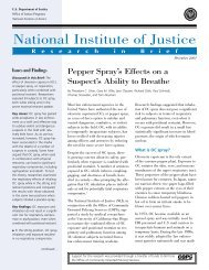 Pepper Spray's Effects on a Suspect's Ability to Breathe - National ...