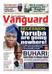 27032021 - SECESSION : Yoruba are going nowhere