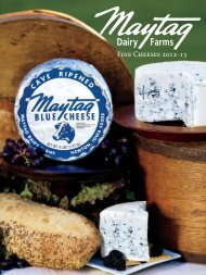 Fine Cheeses 2012-13 - Maytag Dairy Farms