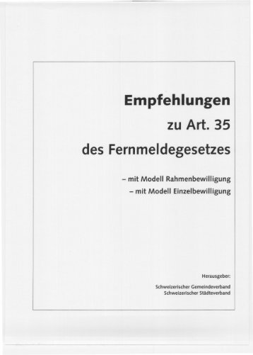 Art. 35 FMG - Kommunale Infrastruktur