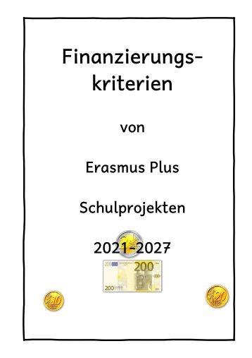 Finanzierungskriterien Erasmus Plus 2021-27
