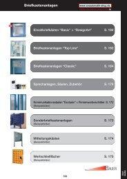 Briefkastenanlagen - Bauer Systemtechnik GmbH, Au in der Hallertau