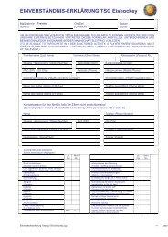 Einverständniserklärung Training TSG Eishockey allgemeine Maßnahmen