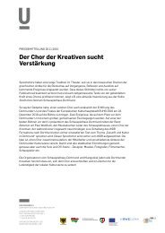 Der Chor der Kreativen sucht Verstärkung - Dortmunder U