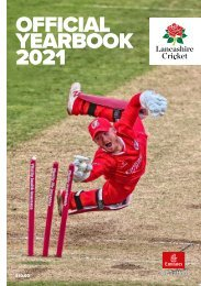 Lancashire Cricket Official Yearbook 2021