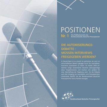 Autorisierung - Bundesverband deutscher Pressesprecher eV (BdP)