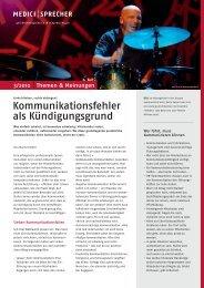 Newsletter 3/2010 Kommunikationsfehler als Kündigungsgrund