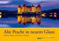 Schlosserland Sachsen Imagebroschuere Ate Pracht in neuem Glanz