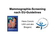 Mammographie-Screening nach Eu-Guidelines