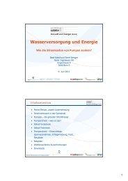 Wasserversorgung und Energie - Energie Zentralschweiz