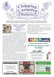 Chipping Campden Bulletin April 2021 Issue