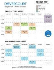 Spring 2021 registered specialty & aquafitness