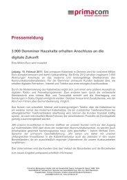 Pressemeldung - Primacom