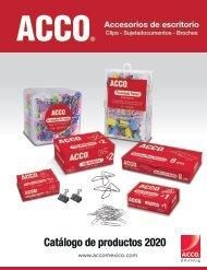 ACCO Catálogo de productos 2020