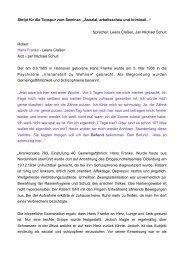 Hans Franke - ein Schicksal in der Psychiatrie Wehnen