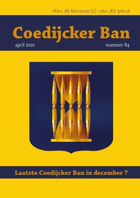 Coedijcker Ban april 2021