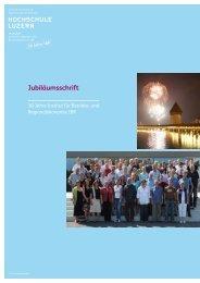 Jubiläumsschrift - Technik + Architektur Intranet - Hochschule Luzern