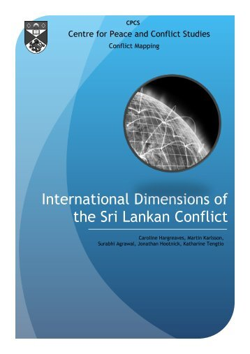 International Dimensions of the Sri Lankan Conflict - University of St ...
