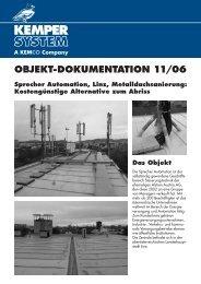 OBJEKT-DOKUMENTATION 11/06 Sprecher Automation, Linz ...