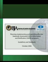 SAVIN Guidelines and Standards - OJP Information Technology ...