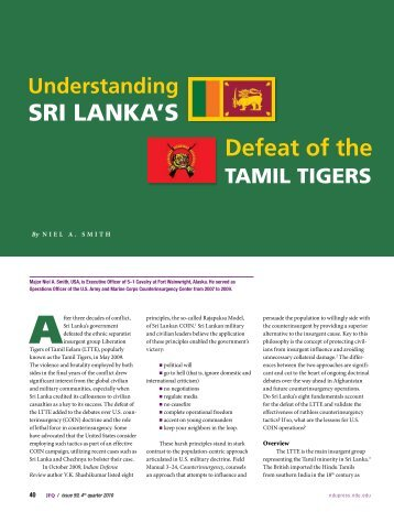 SRI LANKALS Defeat of the - National Defense University