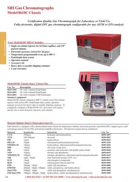Model 8610c gas chromatograph.