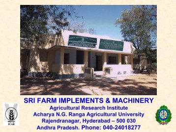 self-propelled weeders - SRI - India