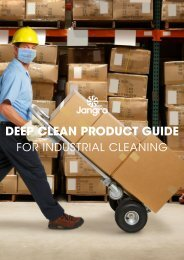 Deep Clean Product Guide - Industrial Cleaning