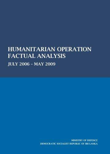 humanitarian operation factual analysis - Embassy of Sri Lanka