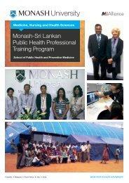 Monash-Sri Lankan Public Health Professional Training Program