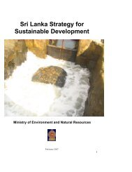Sri Lanka Strategy for Sustainable Development - Regional ...