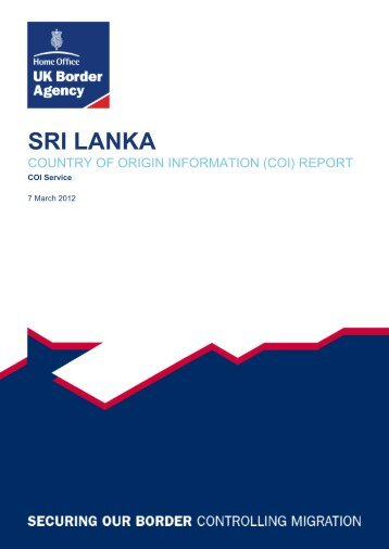 COI Report March 2012 - UK Border Agency - Home Office