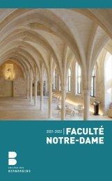 Livret Faculté Notre-Dame 2021-2022