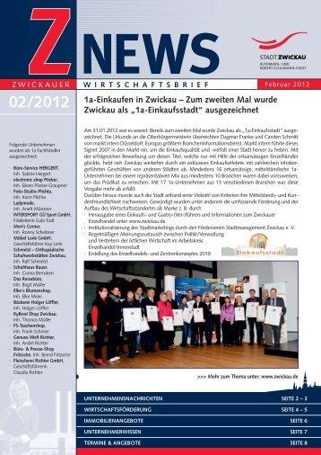 Wirtschaftsbrief 02/2012 - Stadt Zwickau
