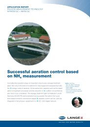 SC 1000 Network, Succesful aeration control based ... - HACH LANGE