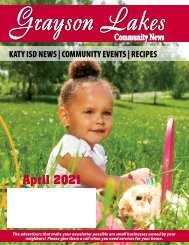 Grayson Lakes April 2021