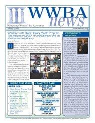 WWBA April 2021 Newsletter
