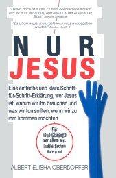 ONLY JESUS GERMAN - ALBERT ELISHA OBERDORFER