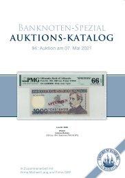 94. Auktion - Banknoten & Notgeld - Emporium Hamburg