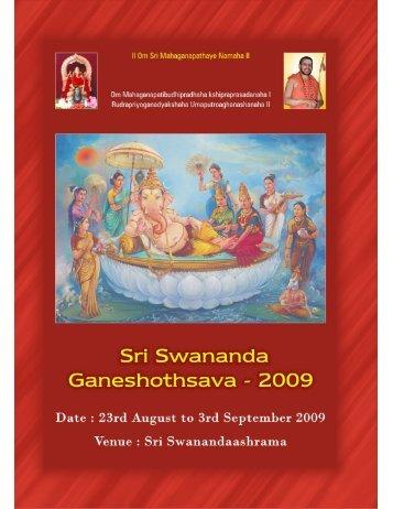Sn Swananda - Sri Swanandaashrama, Bangalore—Home