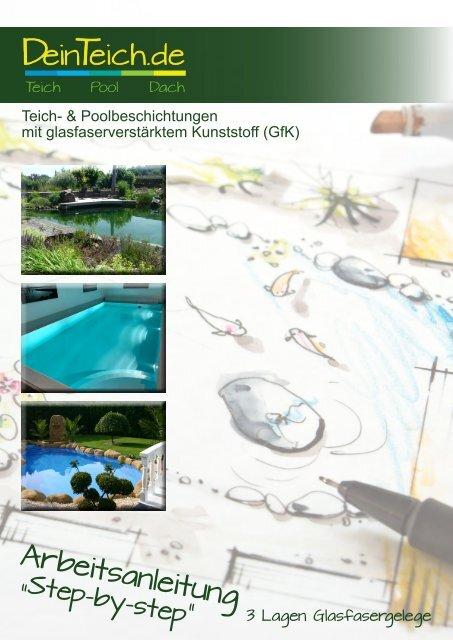 Arbeitsanleitung Teich- und Poolbau mit GfK   DeinTeich.de