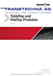 TableTop und MatTop Produkte REXNORD Issue 17