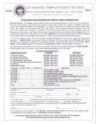 Saarva Daan Sponsorship Form for New Temple Construction