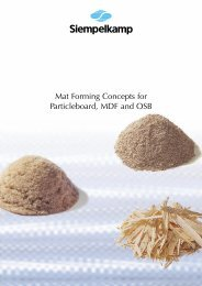Mat Forming Concepts for Particleboard, MDF and ... - Siempelkamp