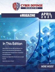 Cyber Defense eMagazine April 2021 Edition