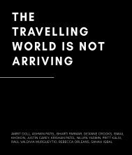 Reframed – The Travelling World is Not Arriving
