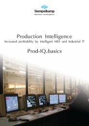 Production Intelligence Prod-IQ.basics - Siempelkamp