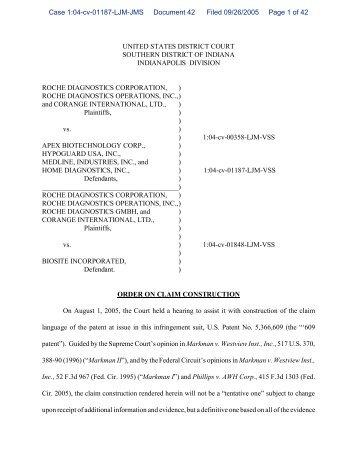 Order on Claim Construction - Patent Docs