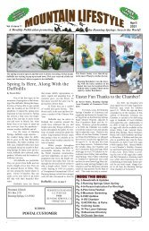 April 2021 Mountain Lifestyle-Running Springs edition