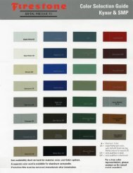 Firestone Metal Products Color Chart - Viking Metal Products